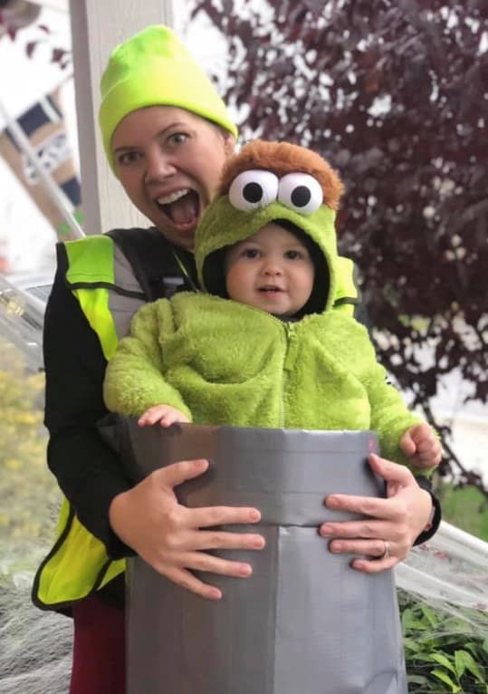 oscar the grouch carrier costume