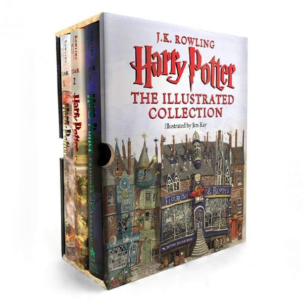 Box set of Harry Potter illustrated books