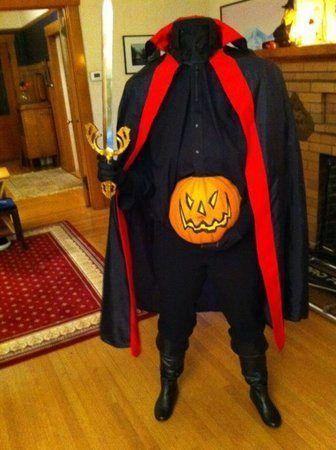 pregnant headless horseman pumpkin costume