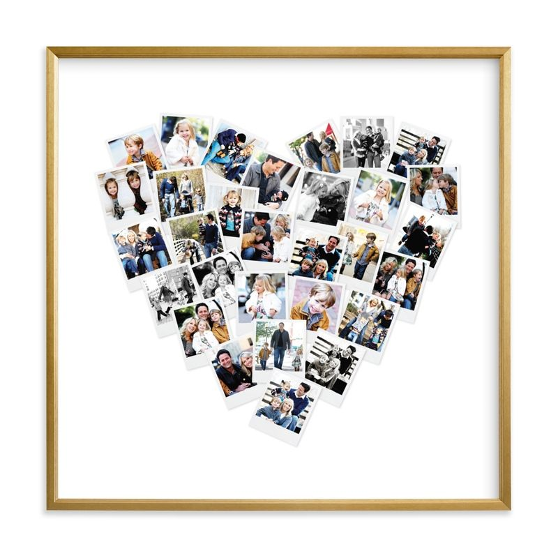 heart snap shot photo collage gift