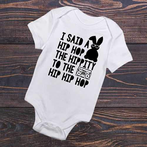 hip hop easter onesie for a baby