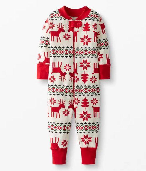 holiday baby pajamas