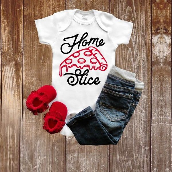 funny onesies - home slice
