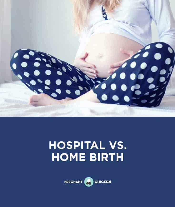 Hospital vs. Home Birth: The pros and cons of giving birth in the hospital vs at home birth. From fewer naysayers to being in your own home we cover most aspects of both choices. Whether or not you're writing a birth plan, one of the first things you should consider is WHERE you'd like to give birth. We help weight some of the pros and cons of both a home birth and a hospital birth. #homebirth #hospitalbirth #birthplan #birthpreparation #birth #thirdtrimester #pregnantmom #birthoptions