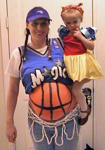 basketball maternity Halloween costume