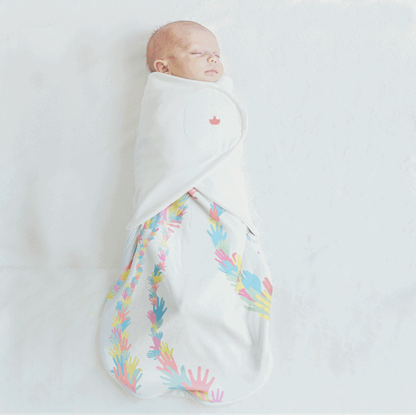 the little lotus swaddle is a baby gift that gives back to charity