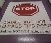 stop sign for babies