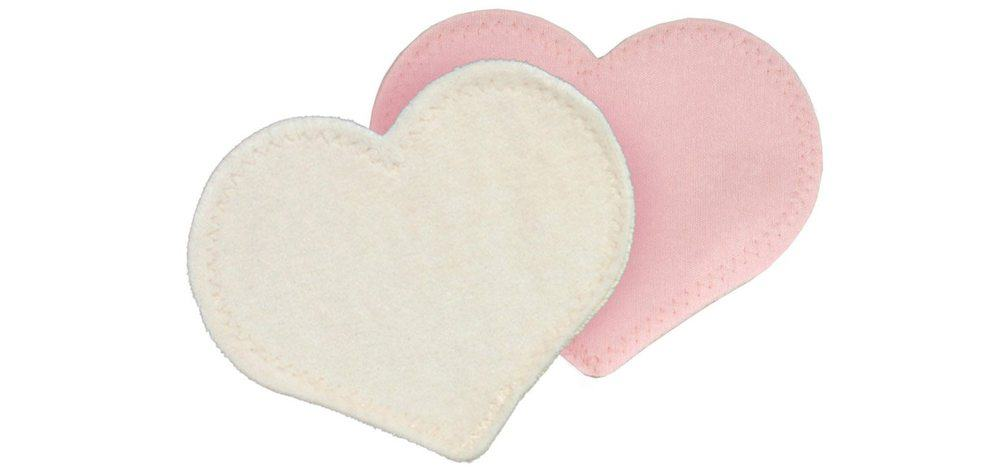 Bamboobies are soft, fabric nursing pads that can be tucked into your bra, washed, and reused.