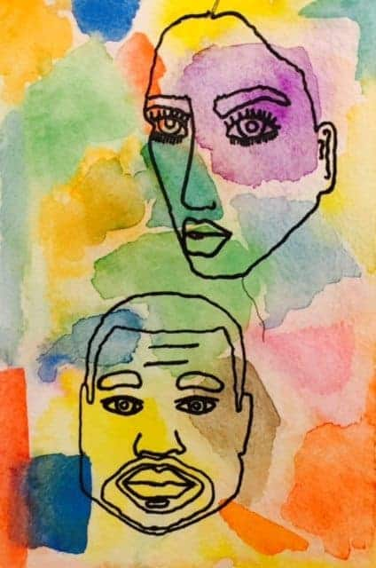 For example, a Kim and Kanye watercolor, which took 3 naps, and is not good.