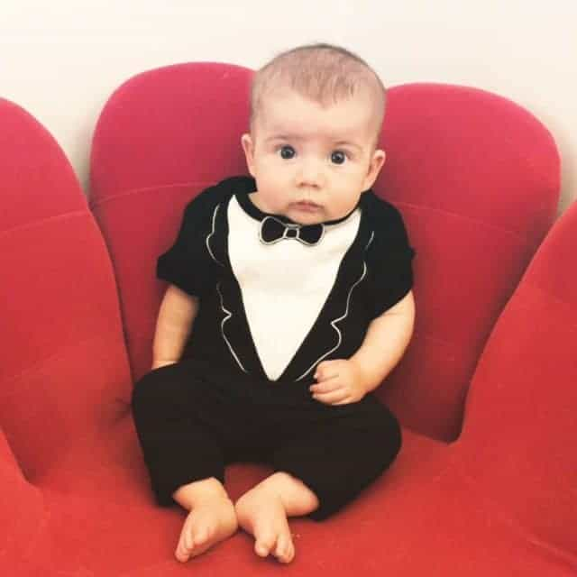Your baby should be the only one in formal wear