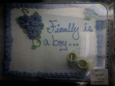 finally is a boy cake