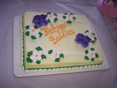 welcome babbies cake