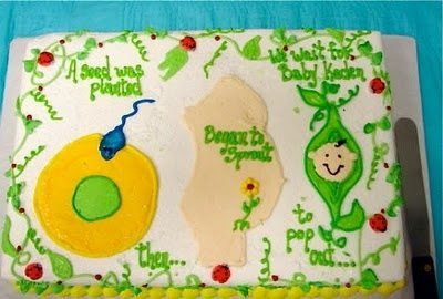 funny baby shower cake