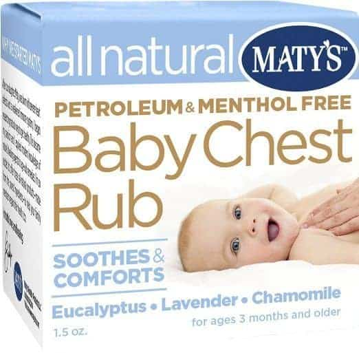 maty's baby chest rub is a baby safe medicine