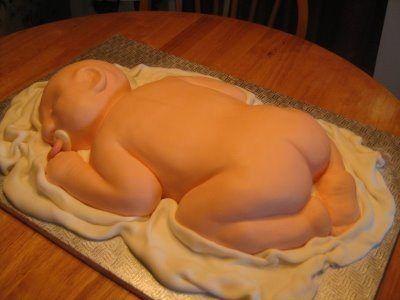 sleeping baby cake