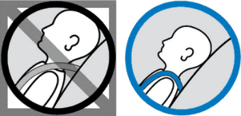 Rear Facing – at or below child's shoulder – Orbit Baby