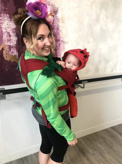 lady bug and flower carrier costume