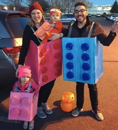 lego family costumes with toddler and baby