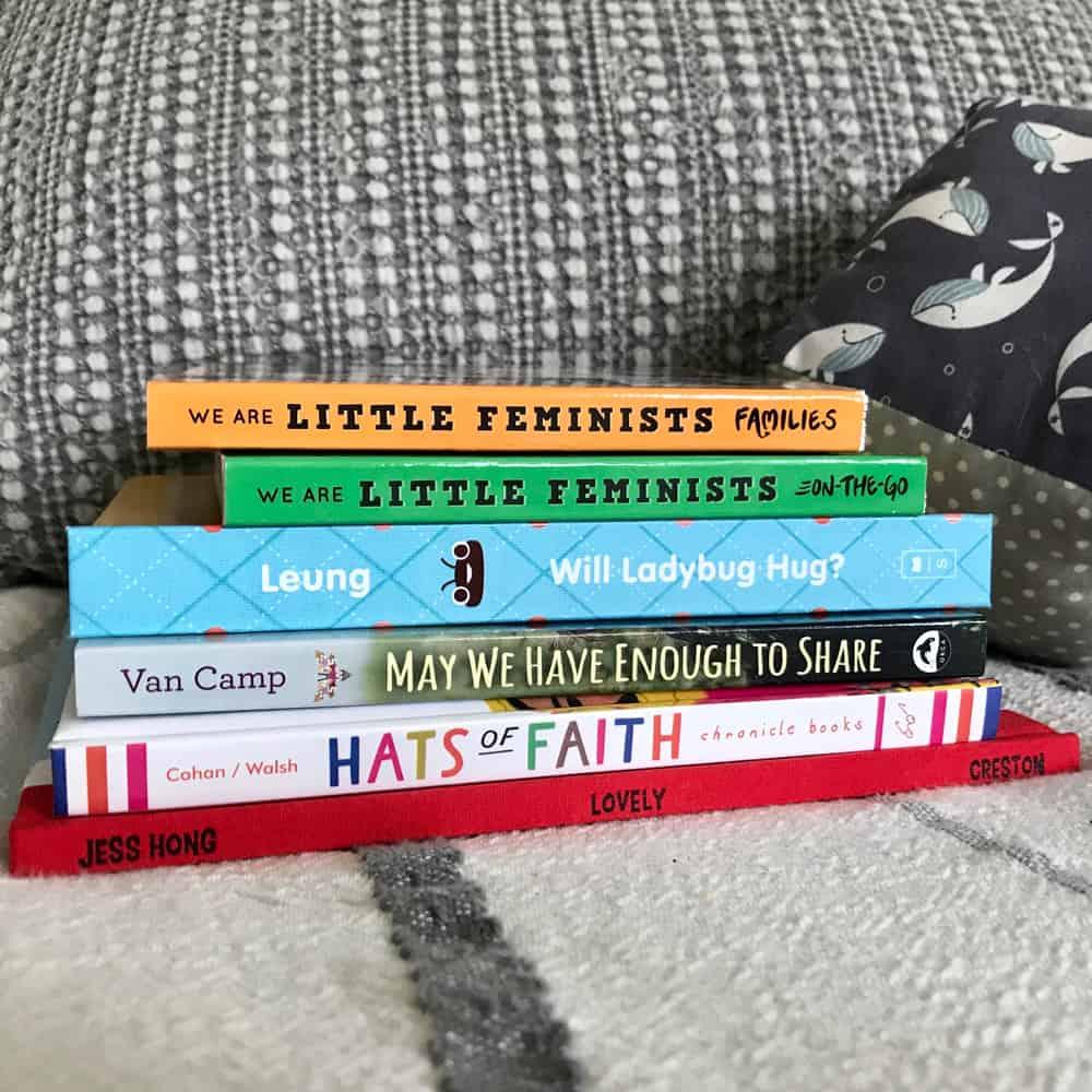 stack of diverse board books