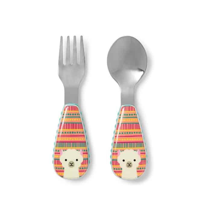 Skiphop llama spoon and fork
