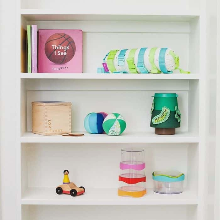 Baby toys on shelf