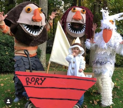 family dressed as where the wild things are
