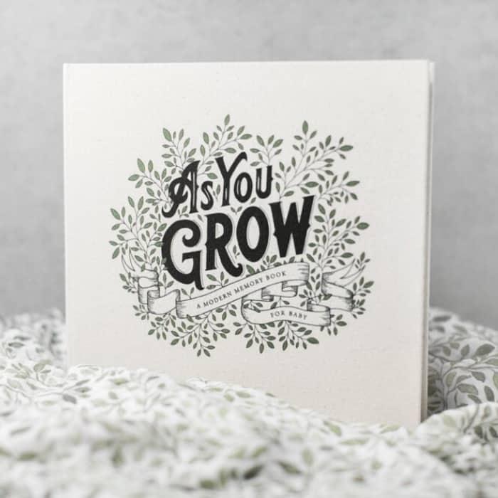 as you grow baby memory book