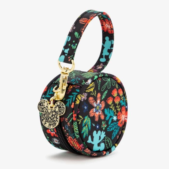 JujuBe paci-pod with floral pattern featuring Mickey Mouse