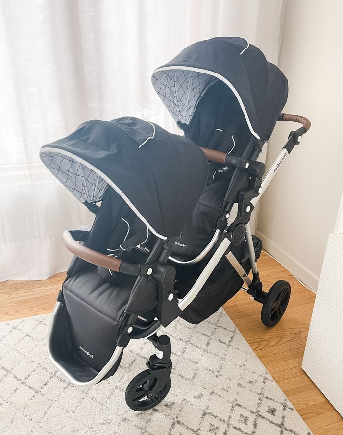 Mockingbird stroller converted to a double