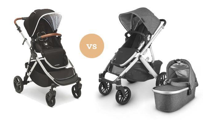 Mockingbird vs. the UPPABaby Vista V2 stroller