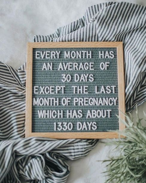 Every month has an average of 30 day except the last month of pregnancy which has about 1330 days