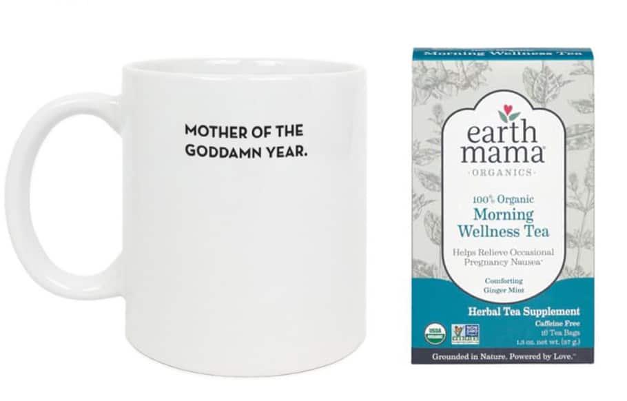 mother of the goddamn year mug and morning wellness tea
