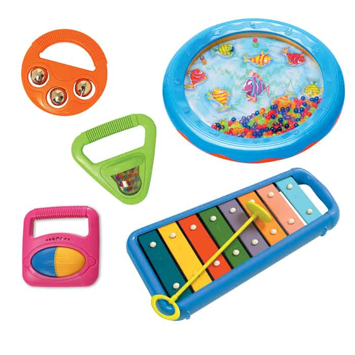 assortment of baby musical instruments