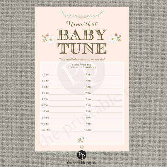 baby tune baby shower game