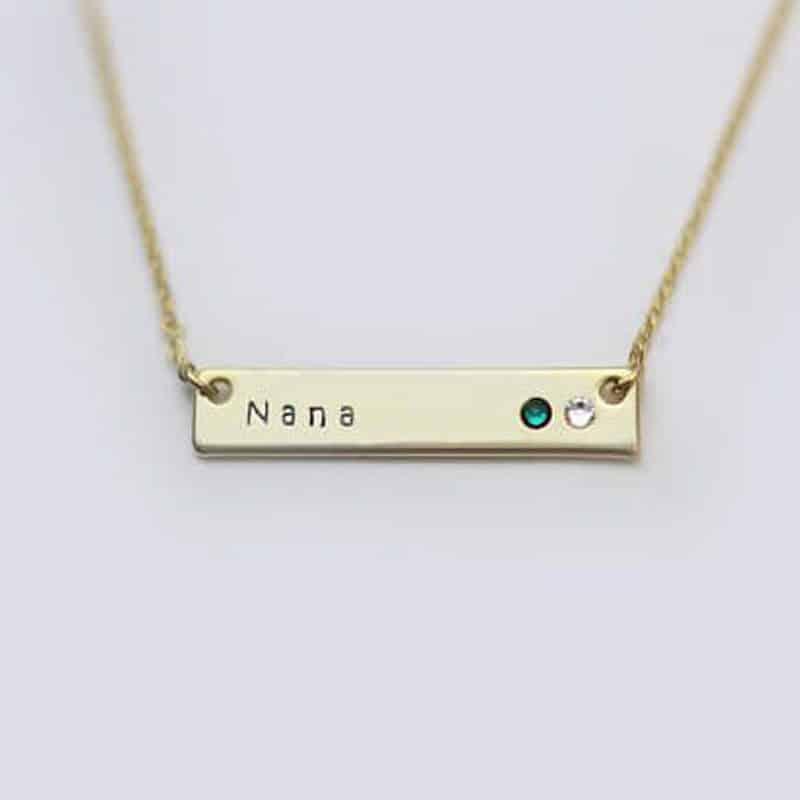 nana necklace birthstones
