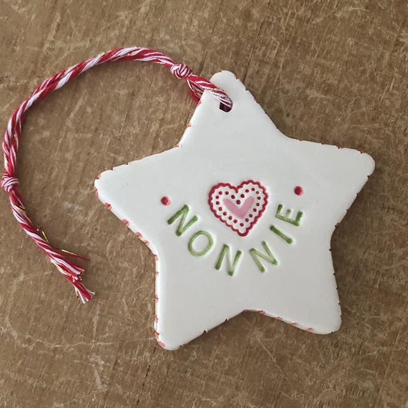nonnie christmas ornament for new grandma