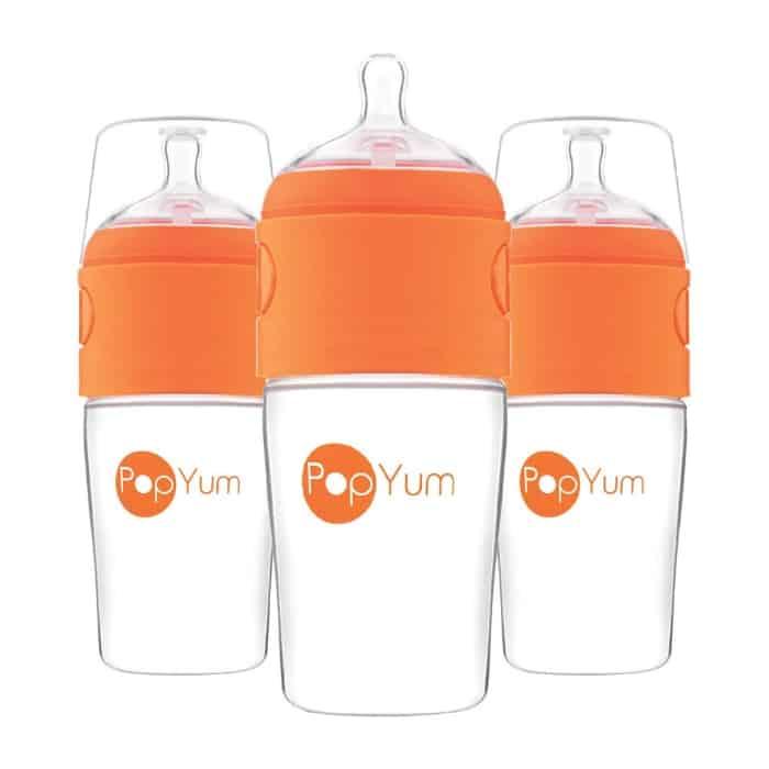 set of three pop yum bottles