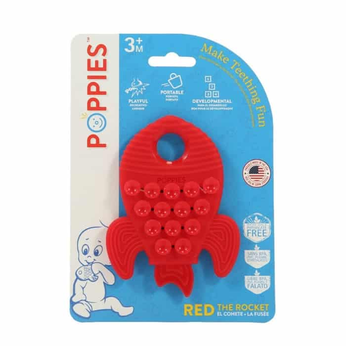red poppies rocket teether