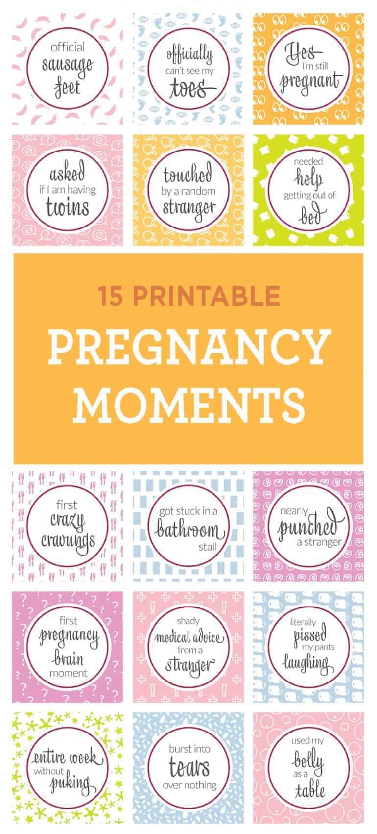 True Pregnancy Moments (15 Printables)
