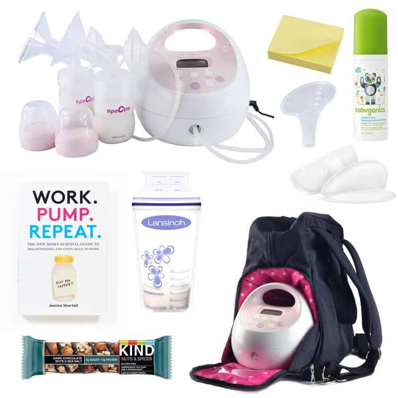 list of breast pump items to pack in your bag