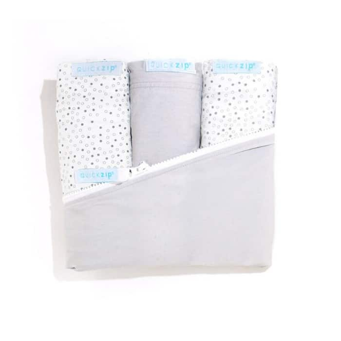 set of quick zip sheets for baby gift