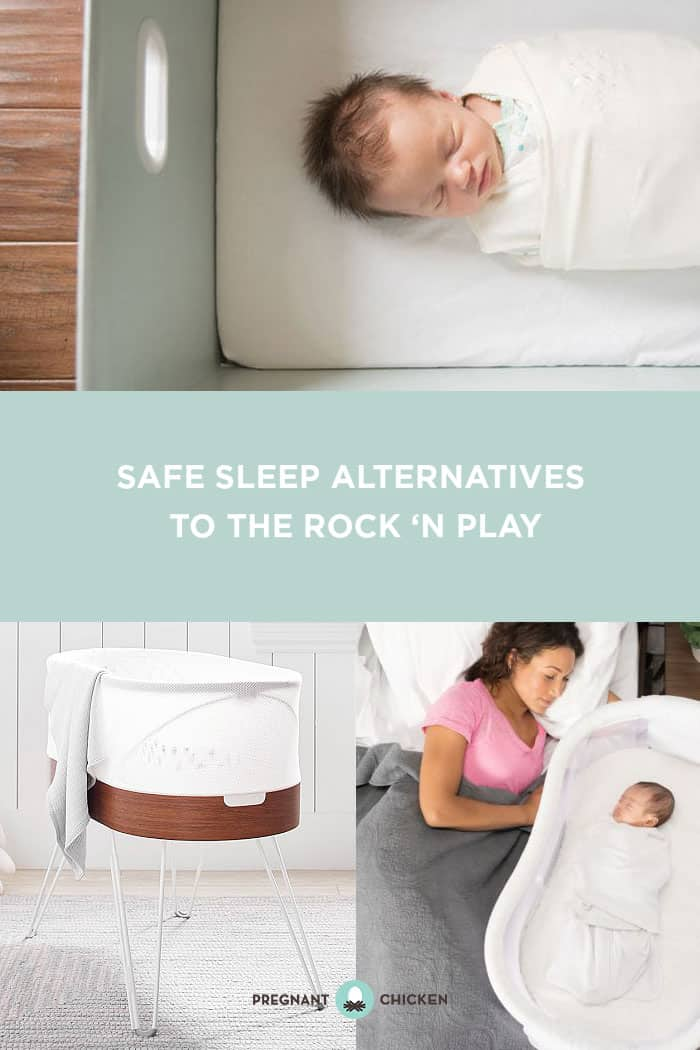 A flat, firm, bare surface are safe sleep ideals for your new baby. Here's a quick refresher on safe sleep options and some alternatives, now that the Rock 'N' Play has been recalled. #rocknplay #rocknplayrecall #babysleepoptions #babysleeprecommendations #babysleep #babyproductrecall #bassinet #fisherpricerecall #safesleep #babysafesleep #babyguide #babyproductguide