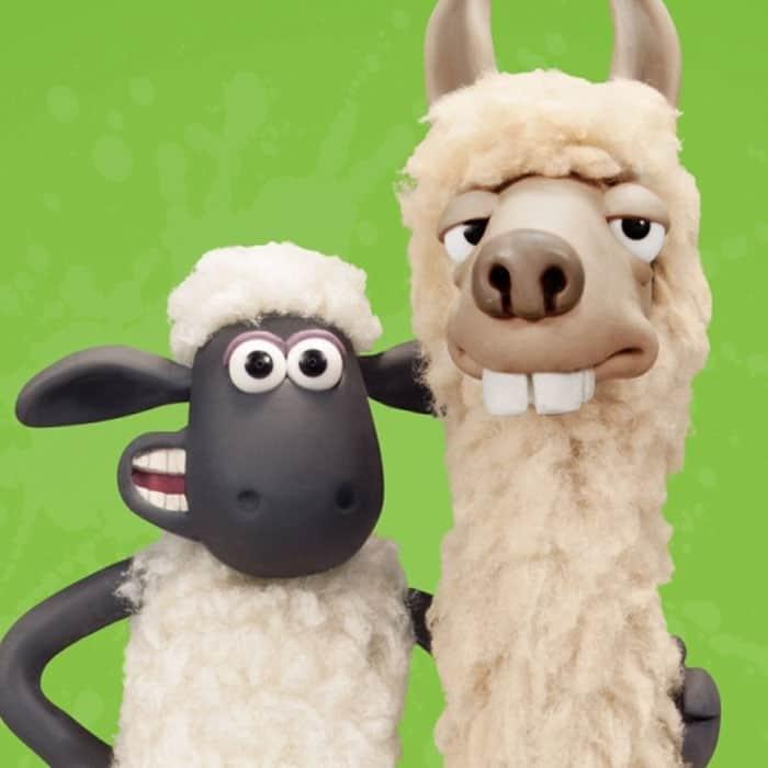 Shaun the sheep and llama