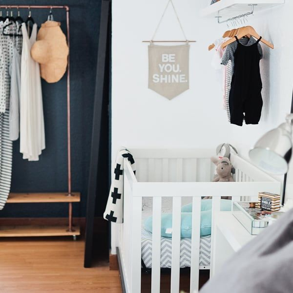 black and white nursery nookblack and white nursery nook