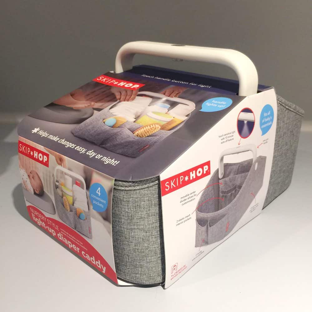 29 of the Best Pregnancy & Baby Products for 2018: Skip Hop light up diaper caddy. This would make a great baby shower gift for any new mom.