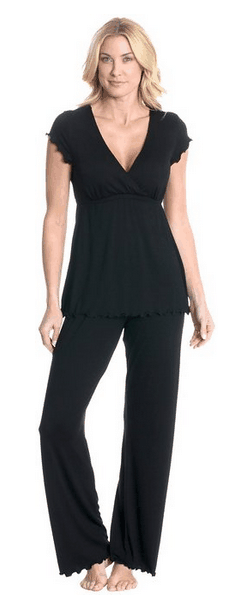 Pregnancy pajamas: Practical and gorgeous gift for any pregnant woman or nursing mom.