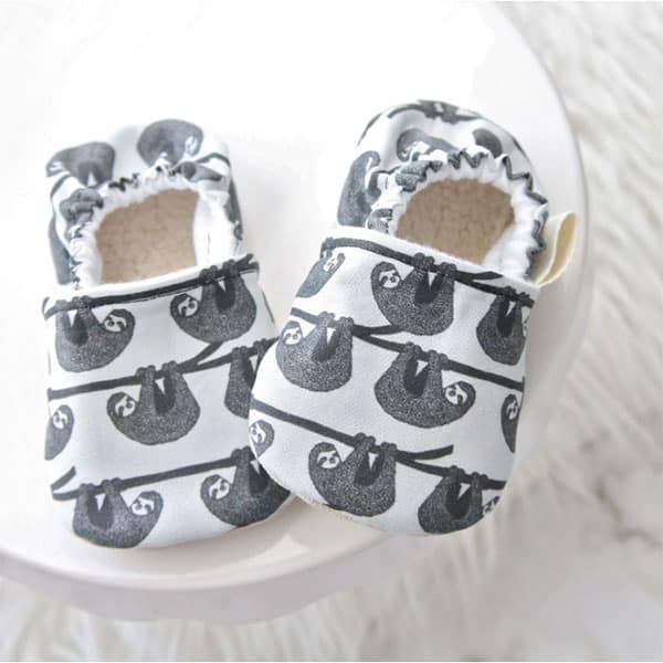 The Best Sloth Themed Baby Stuff. Sloth baby shoes.