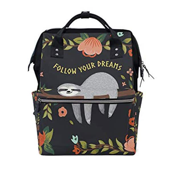 The Best Sloth Themed Baby Stuff. Sloth diaper bag.