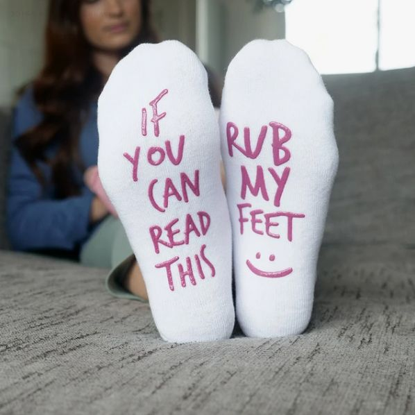 if you can read this rub my feet delivery socks