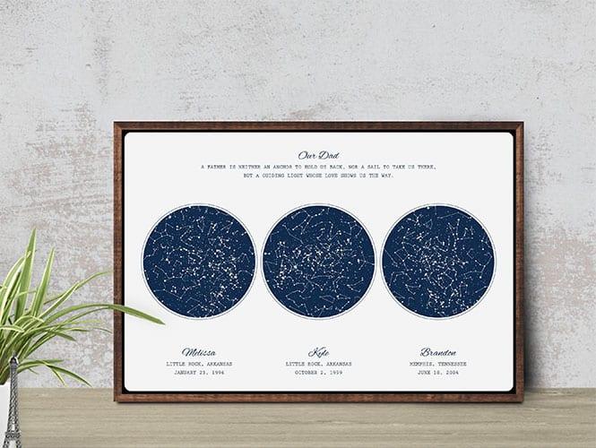 Custom night sky print - gift for new dad